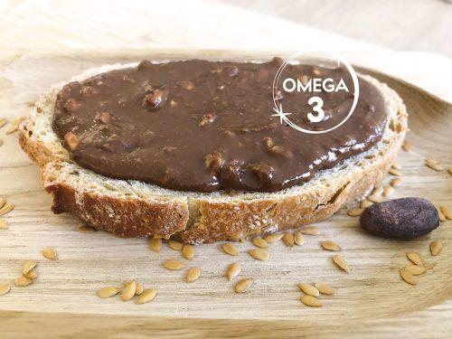 Tartiner des Oméga 3 au petit-déjeuner avec LIN LOV Trio Cacao Nuts