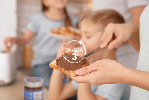 Tartiner des Oméga 3 au petit-déjeuner avec LIN LOV Trio Cacao Coco