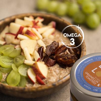 Mettez des Oméga 3 dans vos plats du quotidien avec LIN LOV Purée de graines de lin toastées