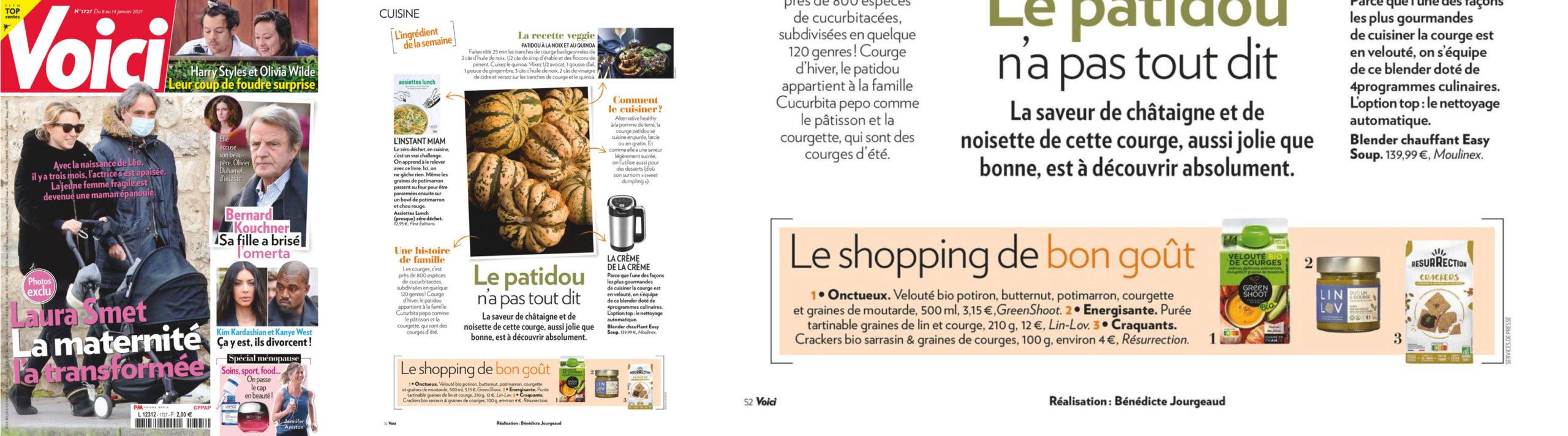 LIN LOV lin et courge est dans le shopping de VOiCI du 8 janvier