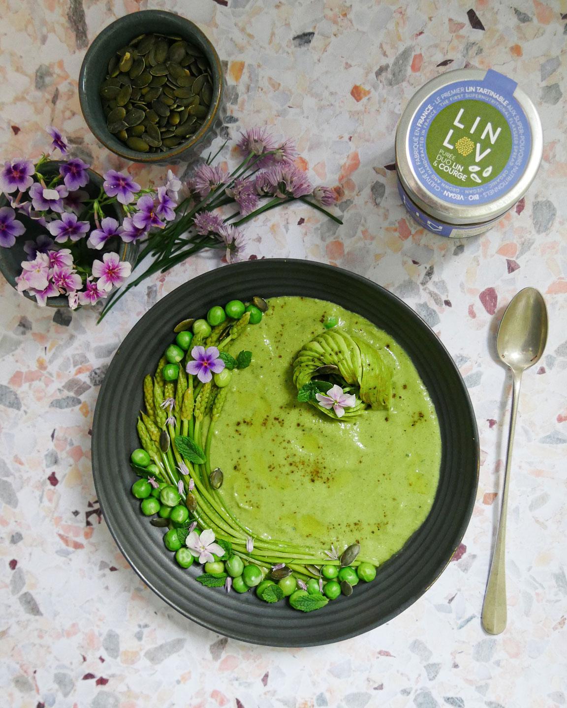 Velouté green aux graines de lin et courgette LIN LOV